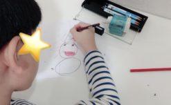 【鹿児島市の放課後等デイサービスWillGoの療育】テーマ絵画を行いました。